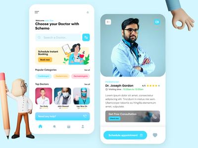 Doctors appointment : Medical Mobile App concept web design ios app design branding flatdesign design mobile nurse insurance health app healthcare healthcare app health hospital hospital app clinic minimal doctor app medical care medical app doctor appointment