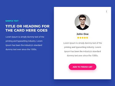 Card Design clean evalogical ux ui flat design material design card carddesign