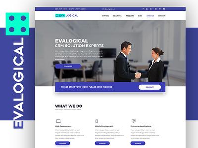 Evalogical Pvt Ltd ui branding flatdesign wip webdesign desgin studio start up landinpage newdesign evalogical