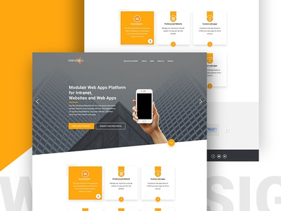 Web Design for a new Client opentohire material design design studio ux ui design flatdesign webdesign