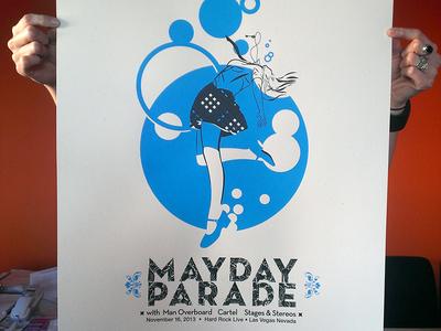 Mayday Parade Screenprint Final