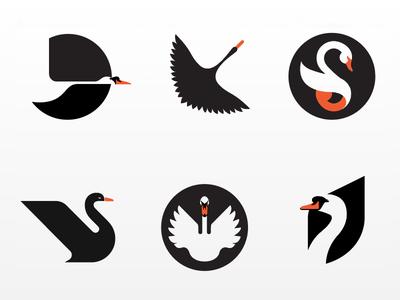 Collection of failed swan logos