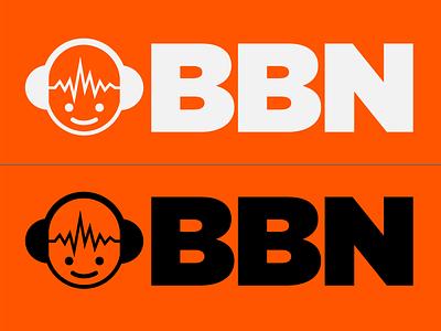 Combination Mark for Audio Engineer Logo vector thickline white black headphones design character boy audio