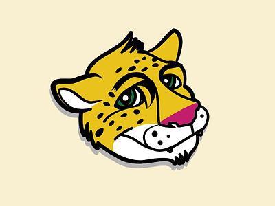 Jacob the Jaguar spots illustration kids vector design character elementary school feline orange spirit mark mascot jaguar