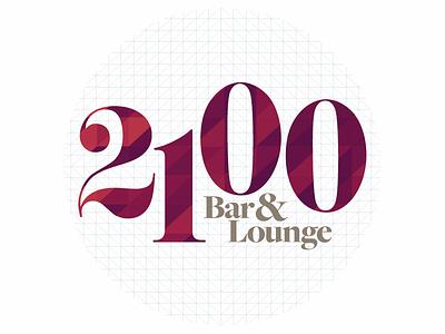 Unused 2100 Logo mark identity address hip modern lounge bar illustrator vector logo