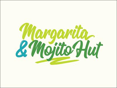 Summer Vibes vegas swash type script island tropical green logo mojito margarita
