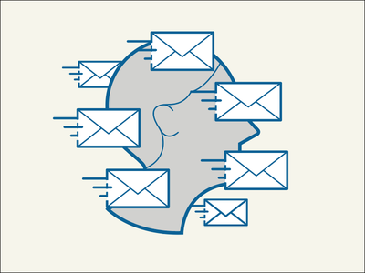 Too many emails lines vector fast profile people e-email icon