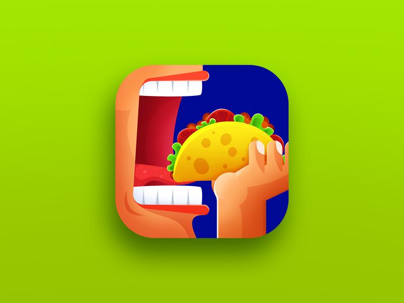 Taco Challenge app icon app icon food eating taco tacos