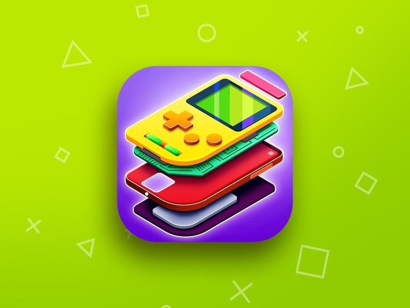 Game icon brain app icon gameboy game