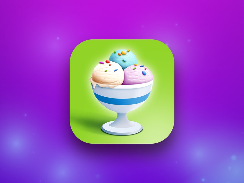 Ice Creamz Roll stores games game iconapp green logo purple logo purple appstore ios illustration icecream ice icon aso app