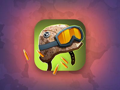 Marines icon soldier stopwar pacific war marine helmet bullet art app store design appstore illustration game aso icon app