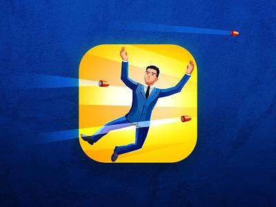 VipGuard agent costume 007 guardian guard vipguard vip logo bullet art design appstore illustration game aso app icon