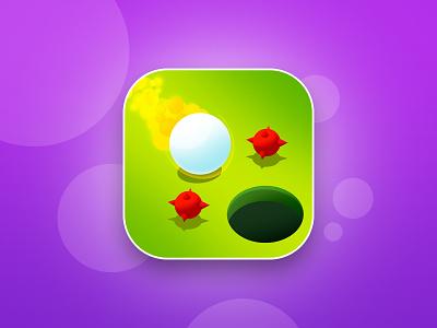 CoolPool billiards ball green fly fire snooker logo art design illustration game aso app icon
