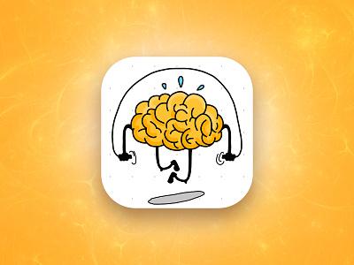 Hit the Brain icon logic puzzles mind brainstorm brain logo art design illustration game aso app icon