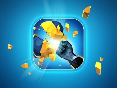 Cleon icon rome stone fist bullet appstore logo art design illustration game aso app icon
