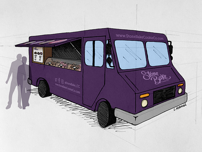 Foodtrucksketch dribbble