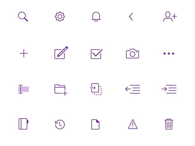 OneNote iOS Icons by Lauren Nielsen on Dribbble