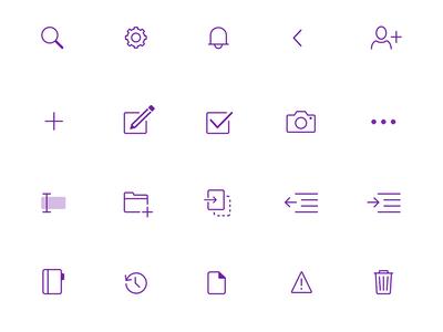 OneNote iOS Icons