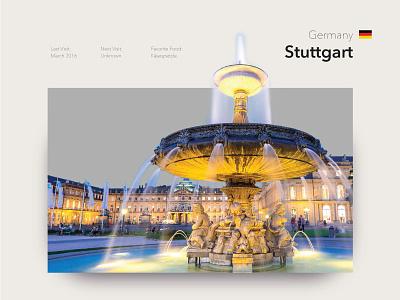 Stuttgart käsespetzle photography travel fountain germany stuttgart