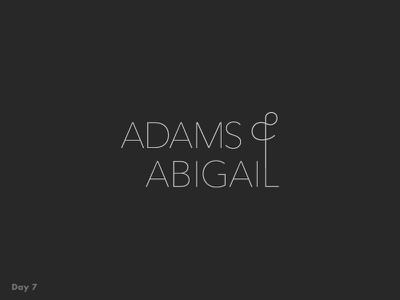 Daily Logo Challenge #7 black and white typography fashion daily logo challenge