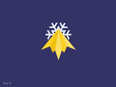 Daily Logo Challenge #8 mountain ski resort ski snow daily logo challenge