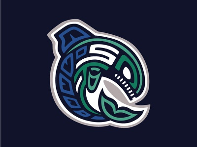 Seattle Steelheads art logo hockey steelheads seattle nhl to seattle