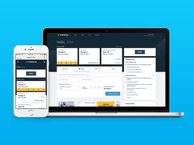 New Egencia Homepage ux ux-ui ui product catalog corporate travel travel enterprise app responsive web product design visual design design