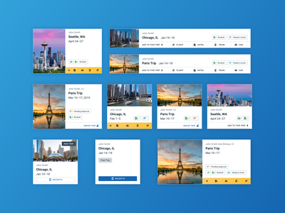 Trip Cards trips cards ui design ui visual design travel design