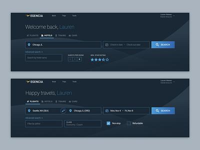 Homepage Dark Mode figma ui design dark mode search forms search business travel ui visual design travel design