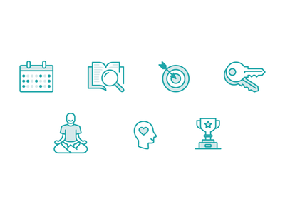 The Mindful Project Icons iconography visual design ui icons icon design mindfulness the mindful project
