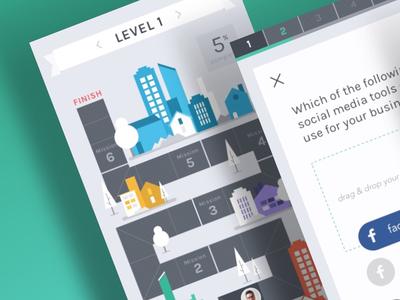 Flat Game Board Mobile App UI