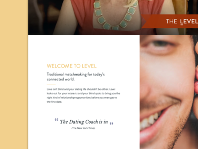 Landing Page Design - Matchmaking Company