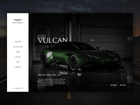 Aston Martin Vulcan - Web Mock up