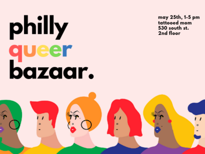 Philly Queer Bazaar Postcard