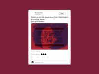Social Media Branding - Sunday Civics