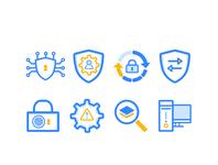 Security icon set
