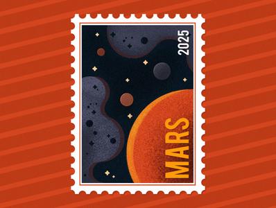 Mars 2025 post stamp
