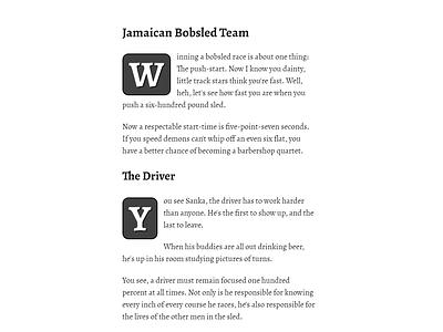 Simple drop caps design font dropcap css3 code css typography