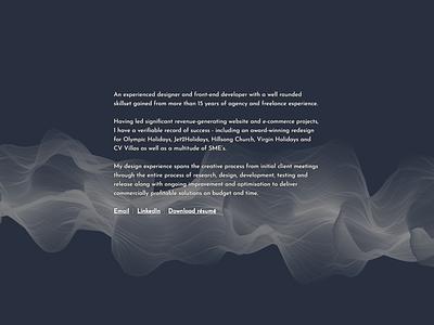 Portfolio landing page generative branding design homepage typography