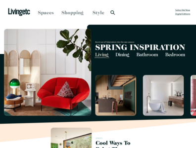 Inspiration carousel carousel landing page banner design panel grid homepage typography header ui layout
