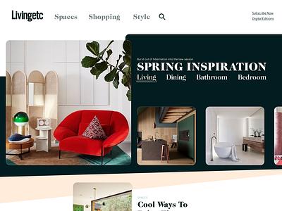 Inspiration carousel carousel landing page banner design panel grid homepage typography header ui layout