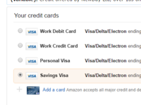 Amazon Payment Screen
