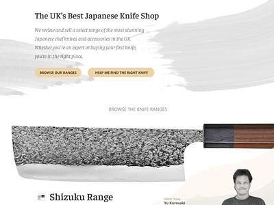 Homepage - Iteration 3.4 ux design ux panel landing ecommerce typography photo photo background japanese brush homepage layout