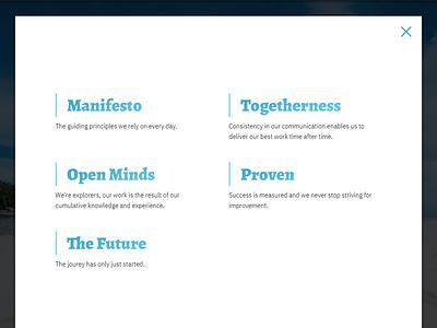 Block navigation   Modal gradient typography menu navigation menu popup modal navigation
