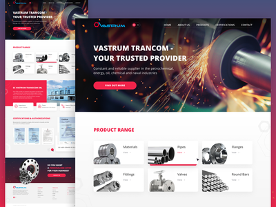 Metallurgical Company home page home homepage design home screen home page homepage adobe photoshop design ui website design figma catalog pipes company factory industrial industry fabric steel metal metallurgy