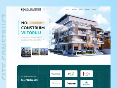 Real estate construction   website home screen header corporate corporate website construction company banner hero home screen homescreen home page website homepage figma website design architecture construction building house realestate real estate