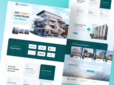 Real estate construction   website home page website ui website design figma home page homepage corporate website corporate construction company architecture construction building house realestate real estate
