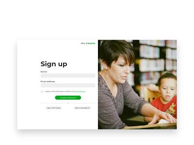 Daily UI Challenge #001 - Sign up ui web design website webdesign daily ui daily challange signup page signup simple daily 100 challenge