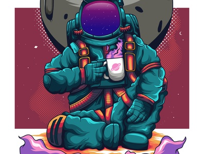 astronaut coffee time
