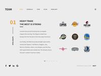 TEAM FOR NBA WEB DESIGN